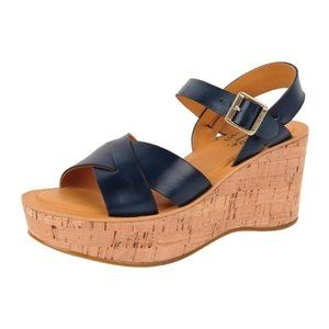 Kork-Ease Ava Wedge Sandal in Navy